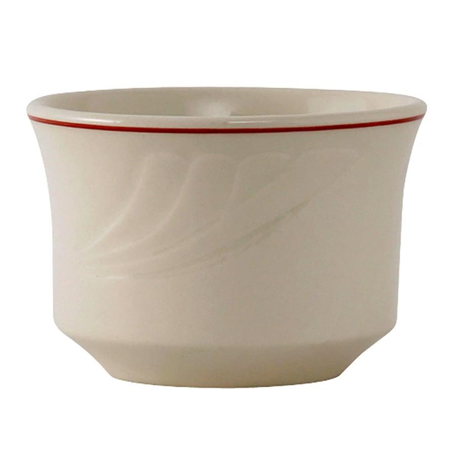 Tuxton YBB-0752 7 oz Monterey Bouillon Bowl - Ceramic, Eggshell