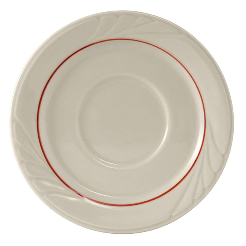 "Tuxton YBE-054 5.5"" Round Monterey Saucer - Ceramic, Eggshell"