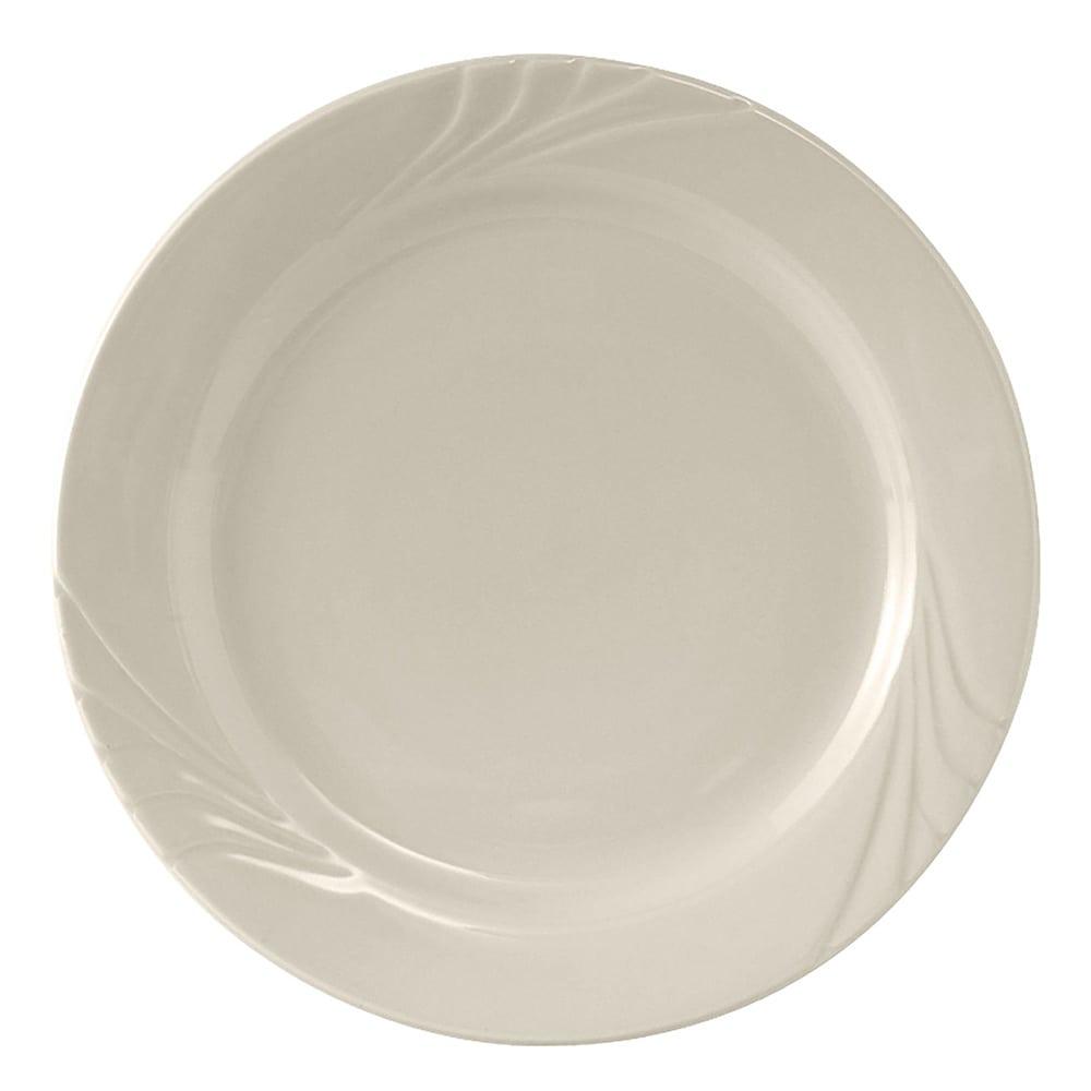 "Tuxton YEA-102 10.25"" Round Monterey Plate - Ceramic, American White"