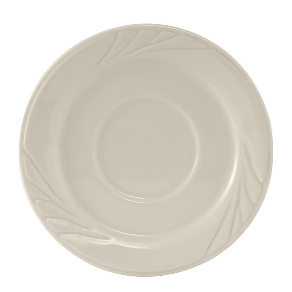 "Tuxton YEE-054 5.5"" Round Monterey Saucer - Ceramic, American White"