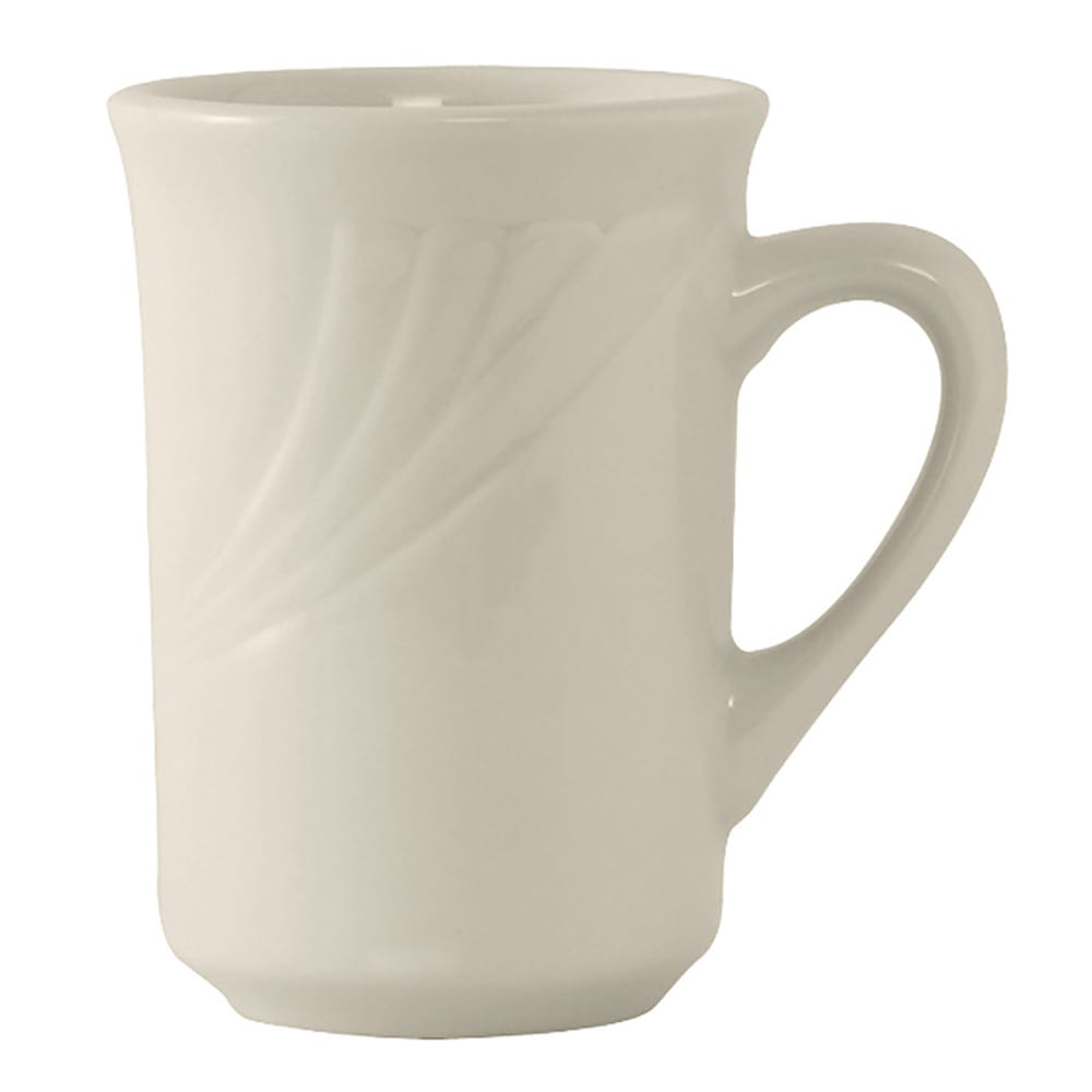 Tuxton YEM-080 7.5 oz Monterey Mug - Ceramic, American White