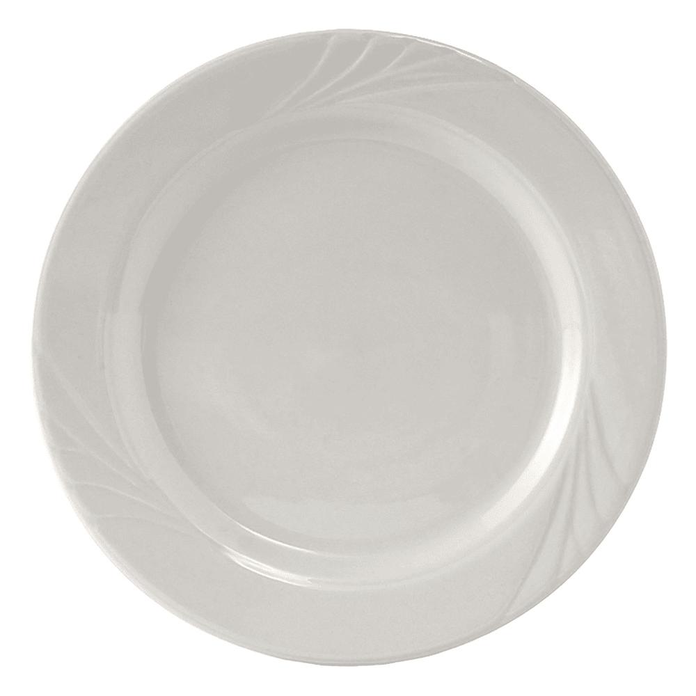 """Tuxton YPA-072 7.25"""" Round Sonoma Plate - Ceramic, Porcelain White"""