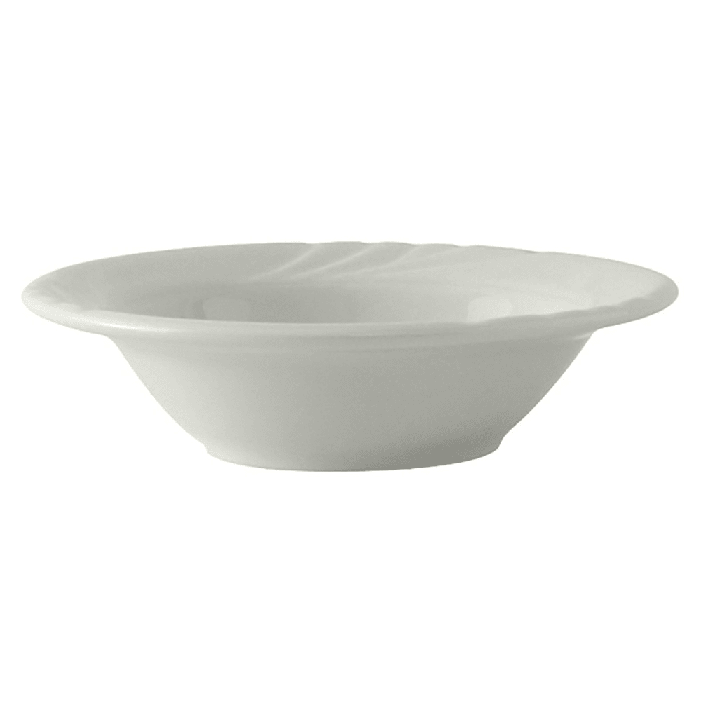 Tuxton YPD-052 3.5 oz Sonoma Fruit Dish - Ceramic, Porcelain White