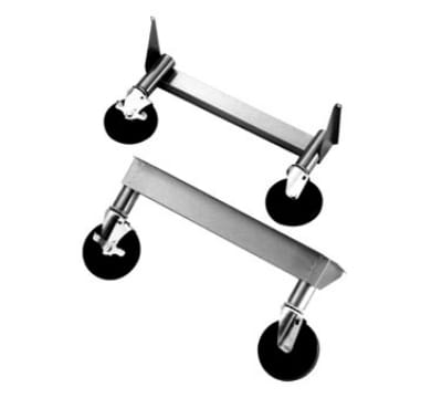 """Wells 21034 Caster Kit w/ Front Brakes for RWHD Models, Raises Unit 10"""""""