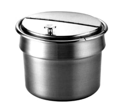 Wells 21057 11 qt Round Inset w/ Hinged Lid & No Handles