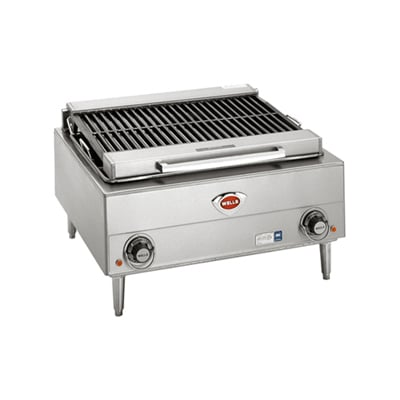 "Wells B-40 24"" Charbroiler w/ Cast Iron Grates, 240v/3ph"