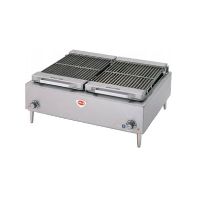 "Wells B-50 36"" Charbroiler w/ Cast Iron Grates, 208v/3ph"