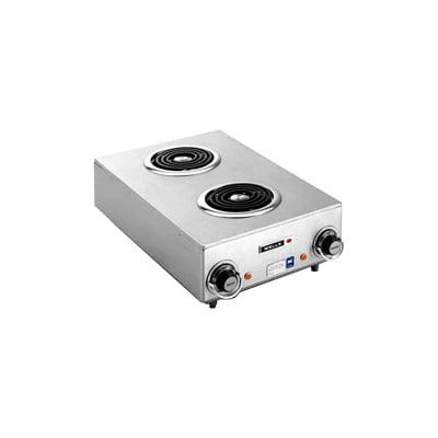 "Wells H-115 14.75"" Electric Hotplate w/ (2) Burners & Infinite Controls, 120v"