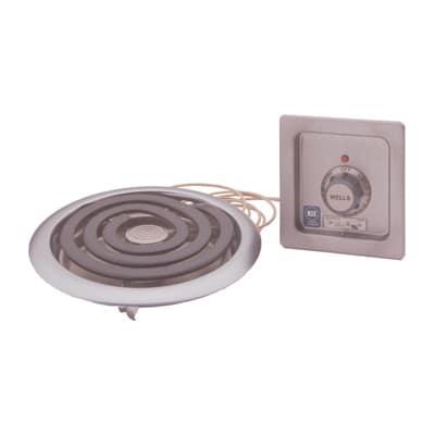 "Wells H-336 10"" Electric Hotplate w/ (1) Burner & Infinite Controls, 208/240v/1ph"