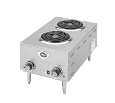 "Wells H-63 14.75"" Electric Hotplate w/ (2) Burners & Infinite Controls, 208/240v/1ph"