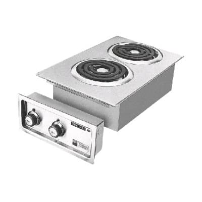 "Wells H-636 14.75"" Electric Hotplate w/ (2) Burners & Infinite Controls, 208/240v/1ph"