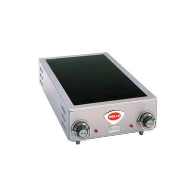 "Wells HC-225 14.75"" Electric Hotplate w/ (2) Burners & Infinite Controls, 208/240v/1ph"