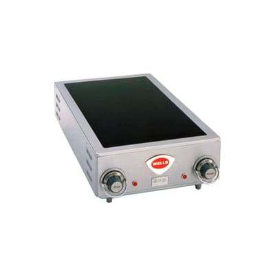 "Wells HC-225 14.75"" Electric Hotplate w/ (2) Burners & Infinite Controls, 220/240v/1ph"