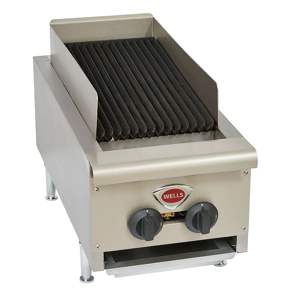 """Wells HDCB-1230G 12"""" Radiant Charbroiler w/ Cast Iron Grates, LP/NG"""