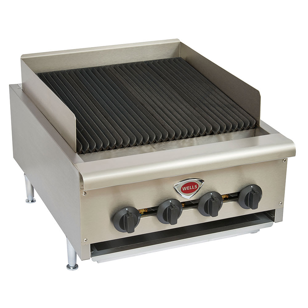 """Wells HDCB-2430G 24"""" Radiant Charbroiler w/ Cast Iron Grates, LP/NG"""