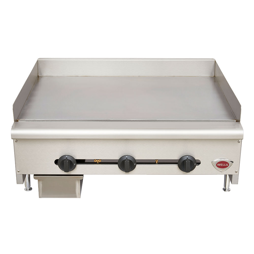 "Wells HDG-3630G-LP 35"" Gas Griddle - Manual, 3/4""  Plate, LP"