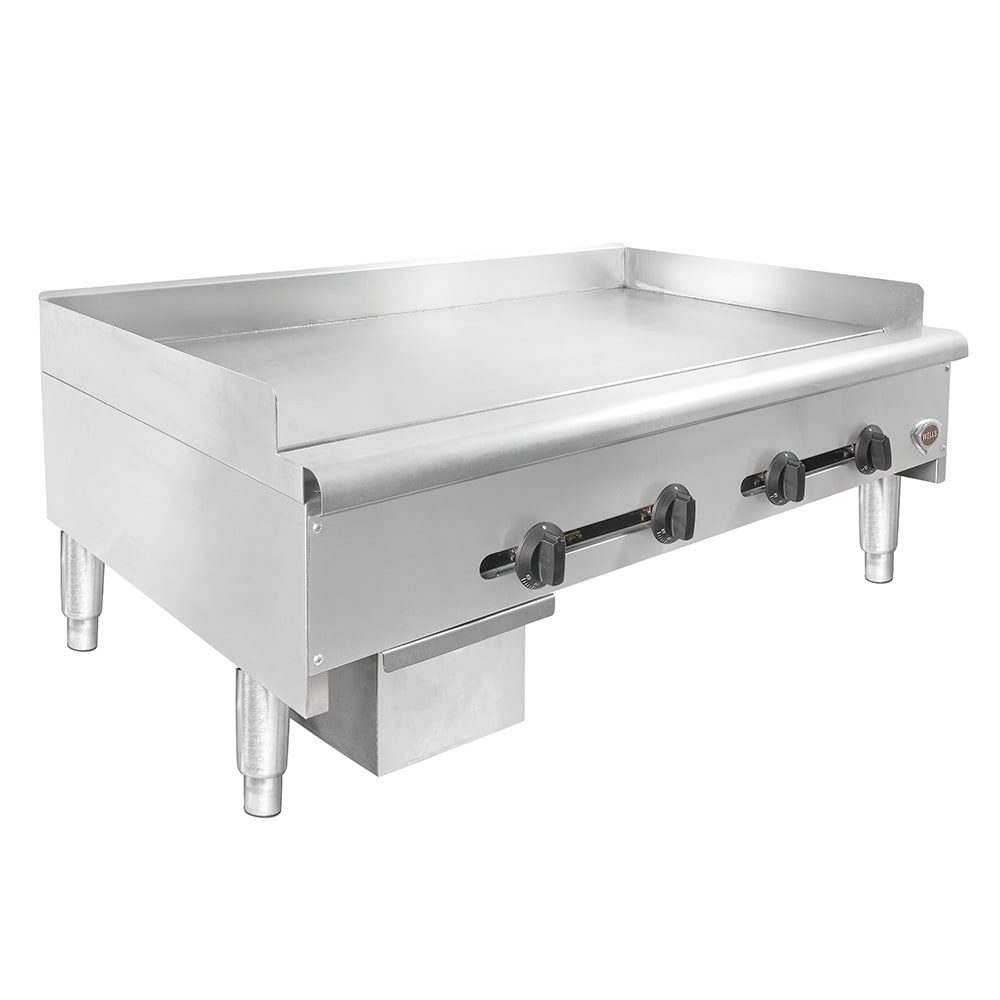 "Wells HDTG-4830G 48"" Gas Griddle - Thermostatic, 3/4"" Steel Plate, NG"