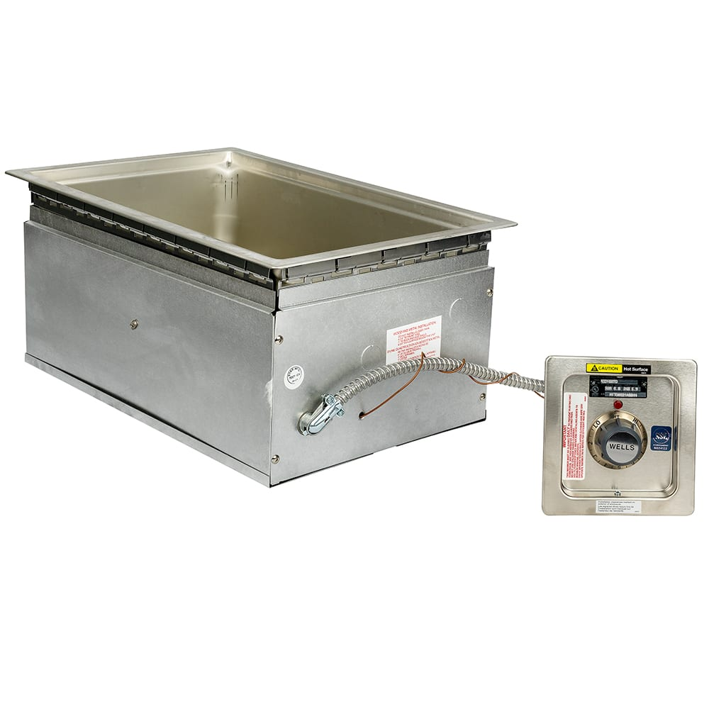 Wells MOD-100TD/AF Drop-In Hot Food Well w/ (1) Full Size Pan Capacity, 208 240v/1ph