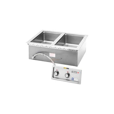 Wells MOD-200DM 2-Pan Built In Food Warmer w/ Infinate Controls, Drains, 208/240/1 V