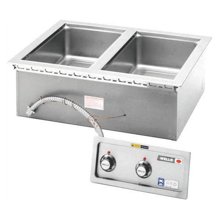Wells MOD-200TDMN/AF Drop-In Hot Food Well w/ (2) Full Size Pan Capacity, 208 240v/1ph