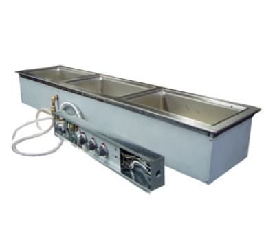 Wells MOD-300TDMN/AF Drop-In Hot Food Well w/ (3) Full Size Pan Capacity, 208 240v/3ph