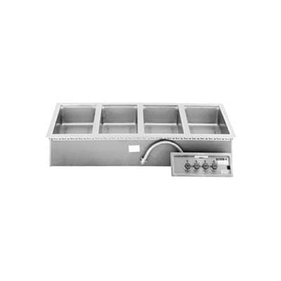 Wells MOD-400 Drop-In Hot Food Well w/ (4) Full Size Pan Capacity, 208 240v/3ph