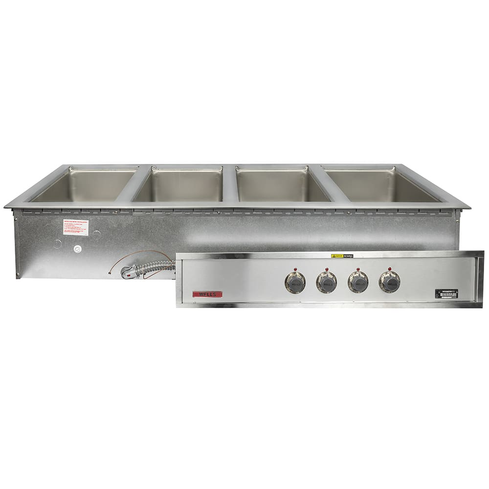 Wells MOD-400TDM Drop-In Hot Food Well w/ (4) Full Size Pan Capacity, 208 240v/3ph