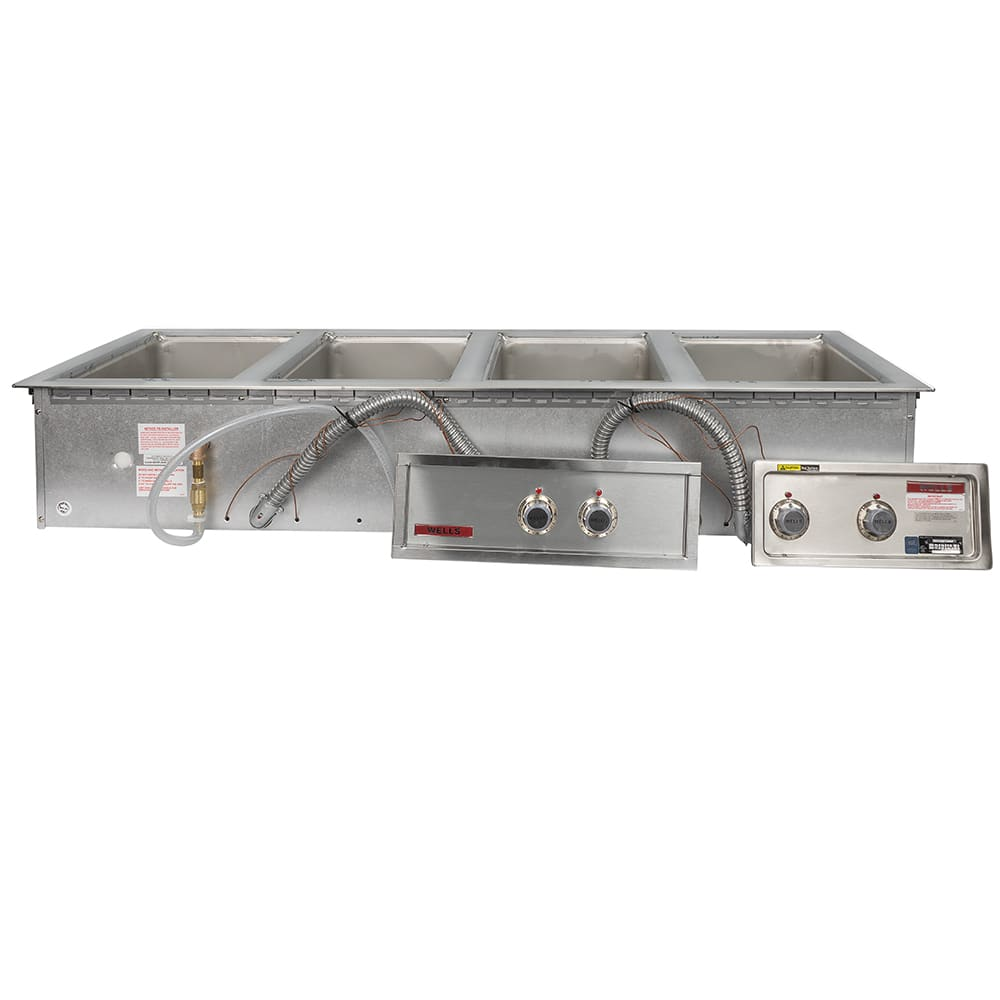 Wells MOD-400TDM/AF Drop-In Hot Food Well w/ (4) Full Size Pan Capacity, 208-240v/3ph
