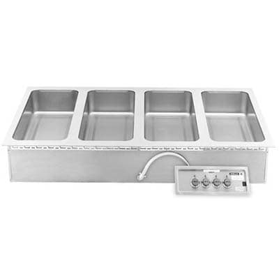 Wells MOD-427TDM Drop-In Hot Food Well w/ (16) 1/3 Size Pan Capacity, 208 240v/3ph