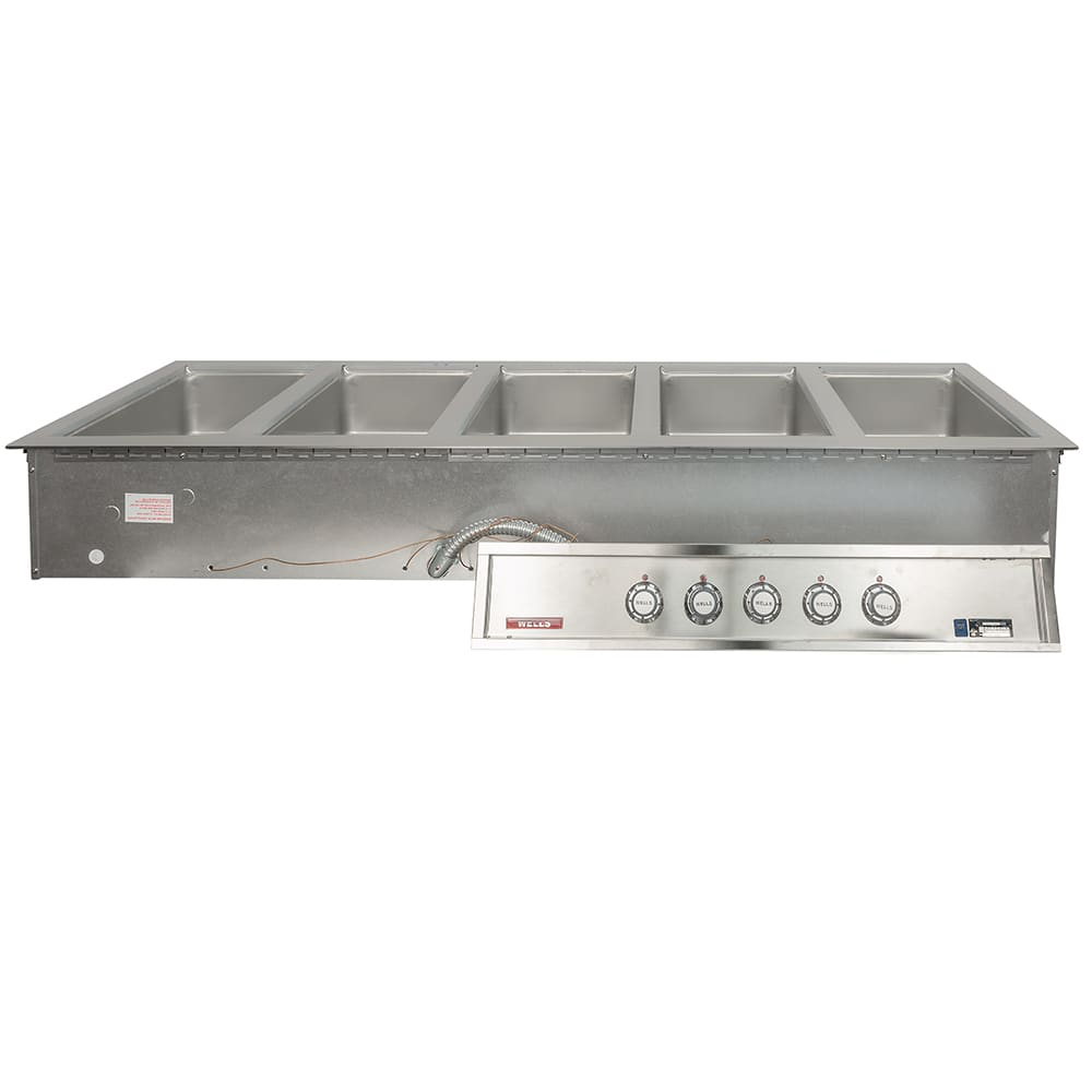 Wells MOD-500TD Drop-In Hot Food Well w/ (5) Full Size Pan Capacity, 208 240v/3ph