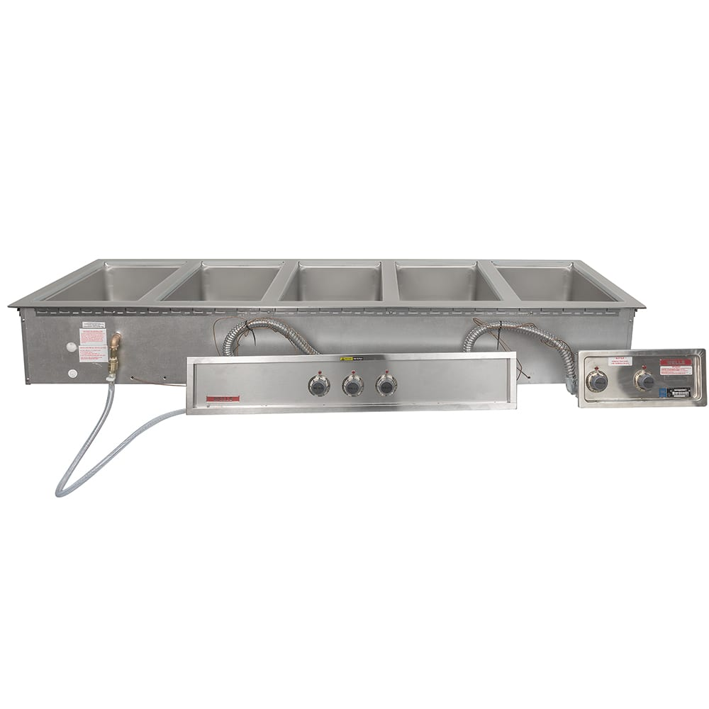 Wells MOD-500TDM/AF Drop-In Hot Food Well w/ (5) Full Size Pan Capacity, 208 240v/3ph
