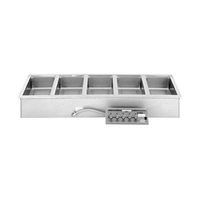 Wells MOD-527TDM/AF Drop-In Hot Food Well w/ (20) 1/3 Size Pan Capacity, 208 240v/3ph