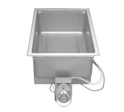 Wells SS-206ED 120 Built In Food Warmer w/ Square Corners & Drain, 1-Pan, 120 V