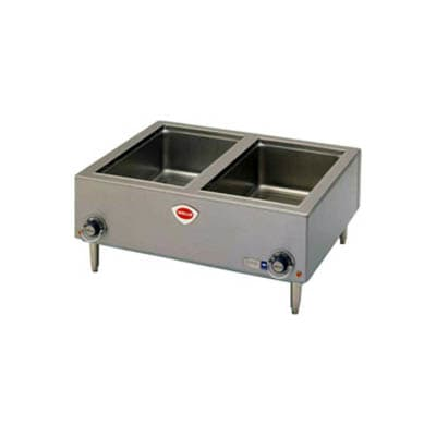 Wells TMPT Countertop Food Warmer w/ (2) Full Size Pan Capacity, 208 240v/1ph