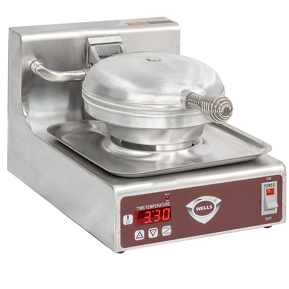 Wells WB-1E Single Round Waffle Baker w/ Thermostatic Control, 120 V