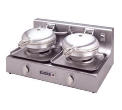 Wells W-B2 120 Dual Round Waffle Baker w/ Thermostatic Control, 120 V