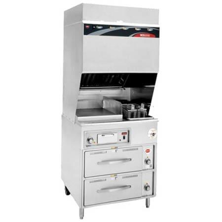 Wells WV-FGRW Electric Fryer w/ Griddle - (1) 15 lb. Vat Floor Model, 208v/3ph