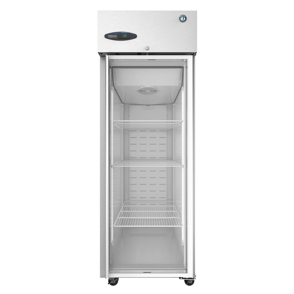 "Hoshizaki CF1S-FGE 27.5"" Single Section Reach-In Freezer, (1) Glass Door, 115v"