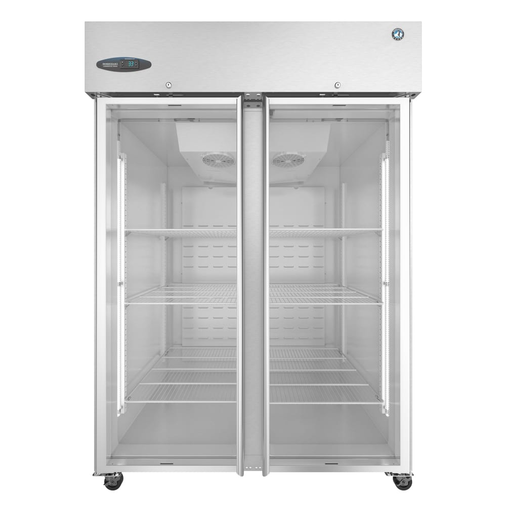 "Hoshizaki CF2S-FGE 55"" Two Section Reach-In Freezer, (2) Glass Doors, 115v"
