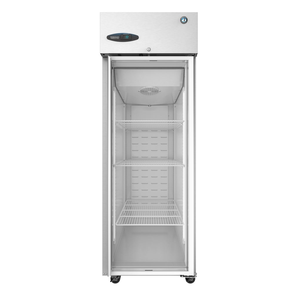 "Hoshizaki CR1S-FGE 27.5"" Single Section Reach-In Refrigerator, (1) Glass Door, 115v"