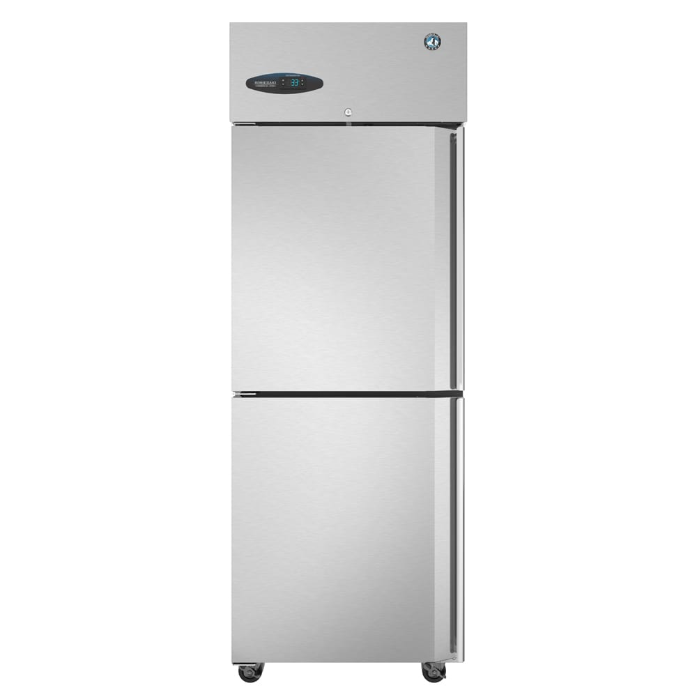 "Hoshizaki CR1S-HSL 27.5"" Single Section Reach-In Refrigerator, (2) Solid Doors, 115v"