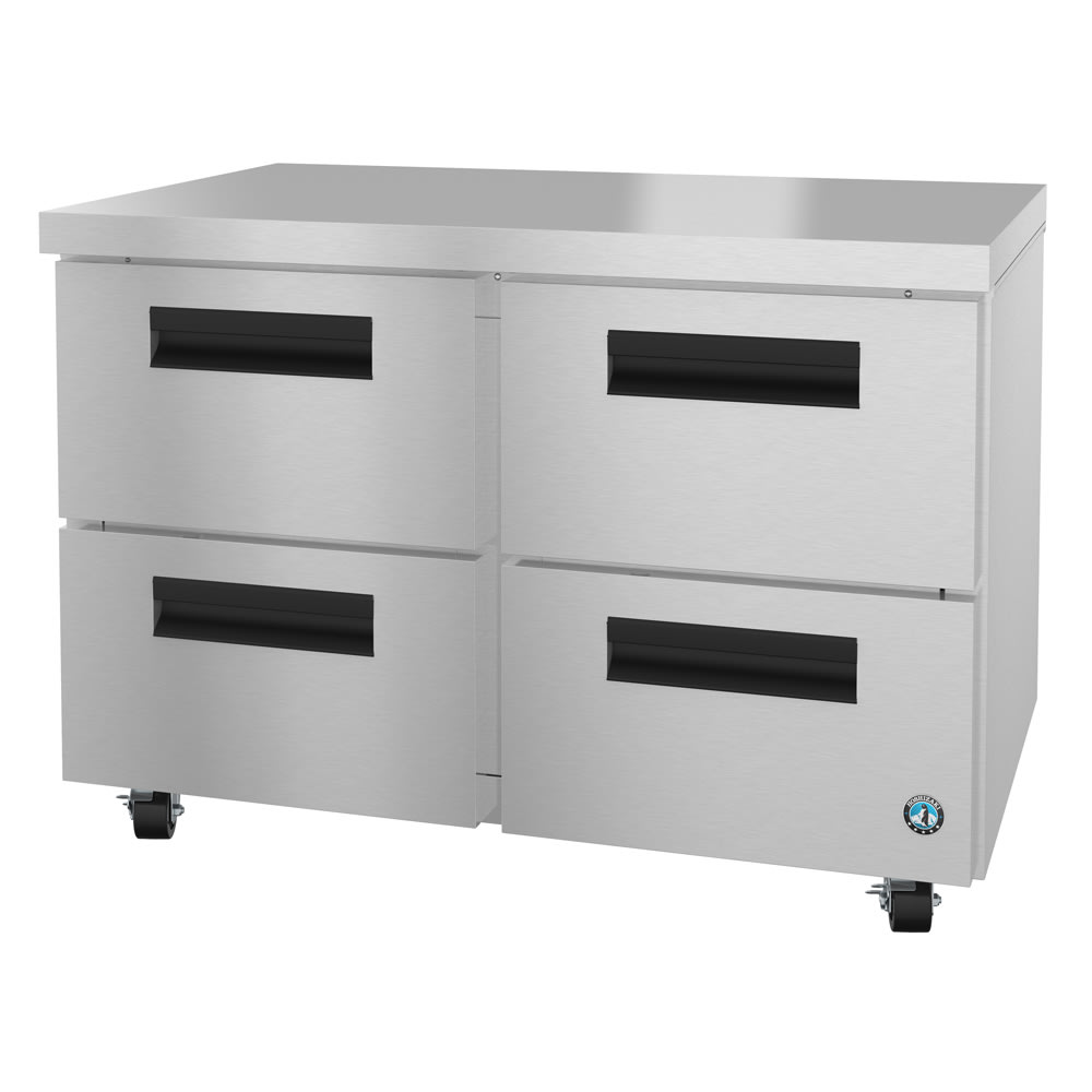 Hoshizaki CRMF48-D4 13.66 cu ft Undercounter Freezer w/ (2) Sections & (4) Drawers, 115v