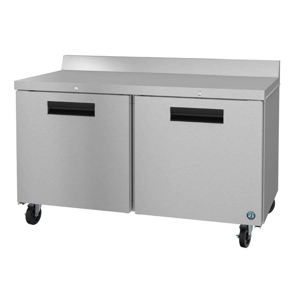 Hoshizaki CRMF60-W01 17.55 cu ft Work Top Freezer w/ (2) Sections & (2) Doors, 115v