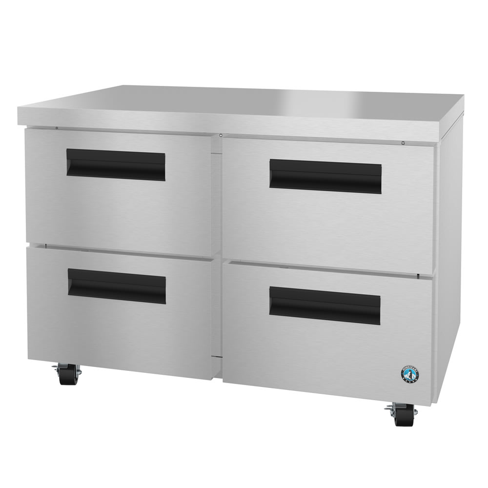 Hoshizaki CRMR48-D4 13.66-cu ft Undercounter Refrigerator w/ (2) Sections & (4) Drawers, 115v