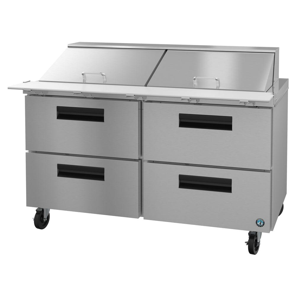 "Hoshizaki CRMR60-24MD4 60"" Sandwich/Salad Prep Table w/ Refrigerated Base, 115v"