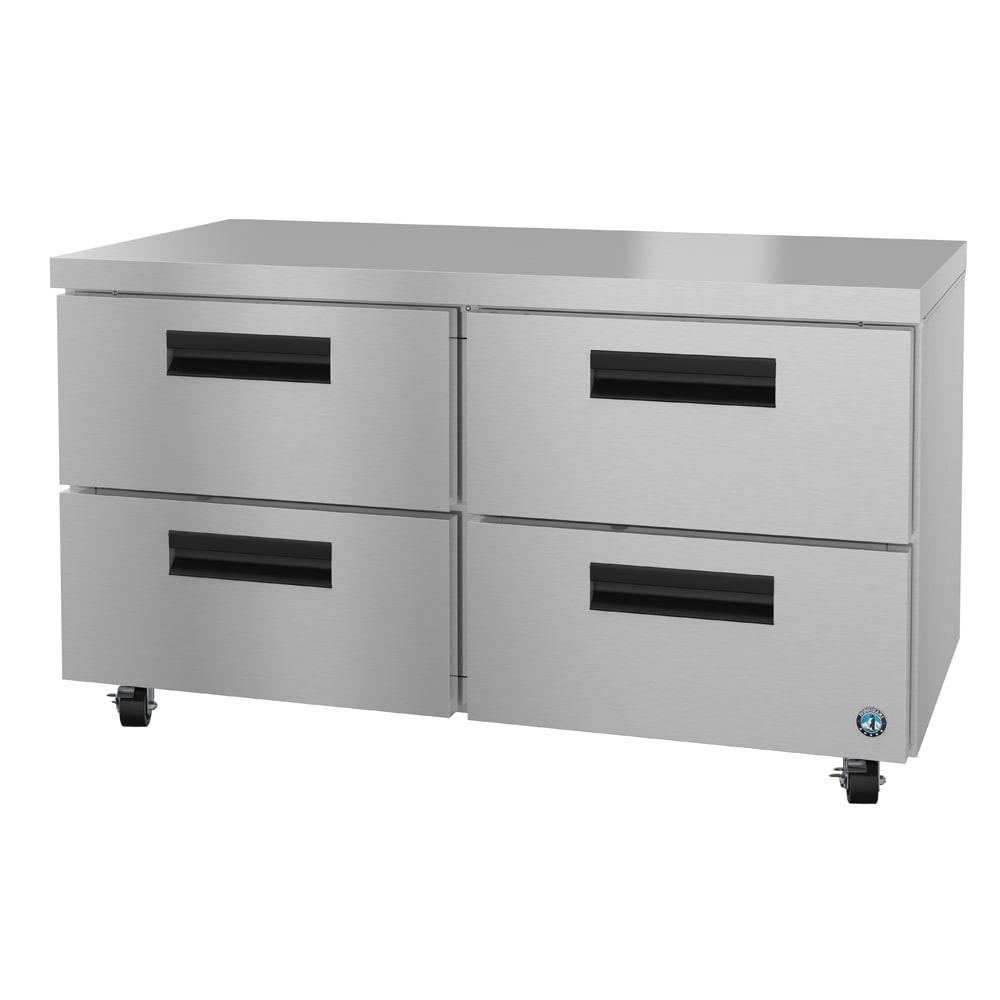 Hoshizaki CRMR60-D4 17.5-cu ft Undercounter Refrigerator w/ (2) Sections & (4) Drawers