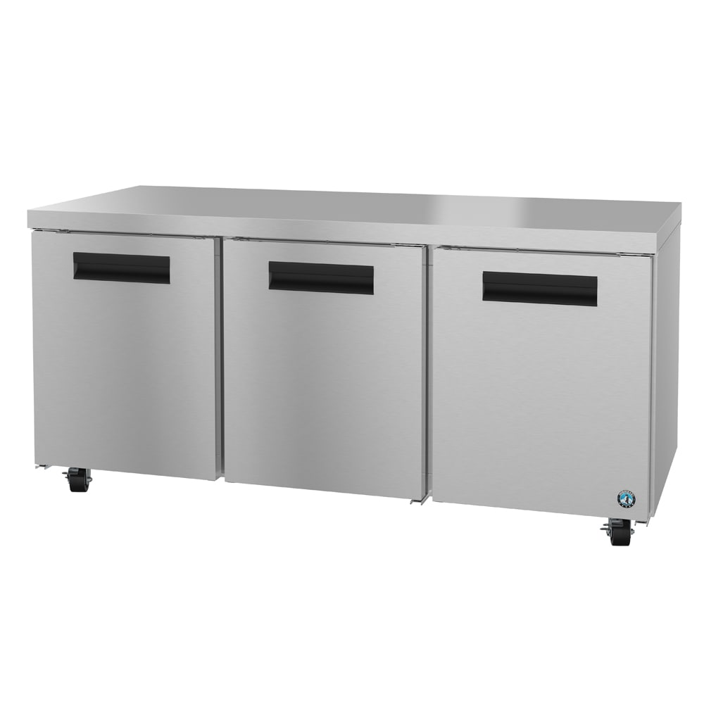 Hoshizaki CRMR72 21.25 cu ft Undercounter Refrigerator w/ (3) Sections & (3) Doors, 115v