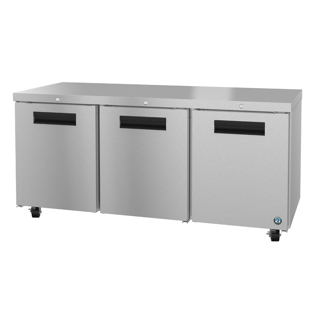 Hoshizaki CRMR72-01 21.25-cu ft Undercounter Refrigerator w/ (3) Sections & (3) Doors, 115v