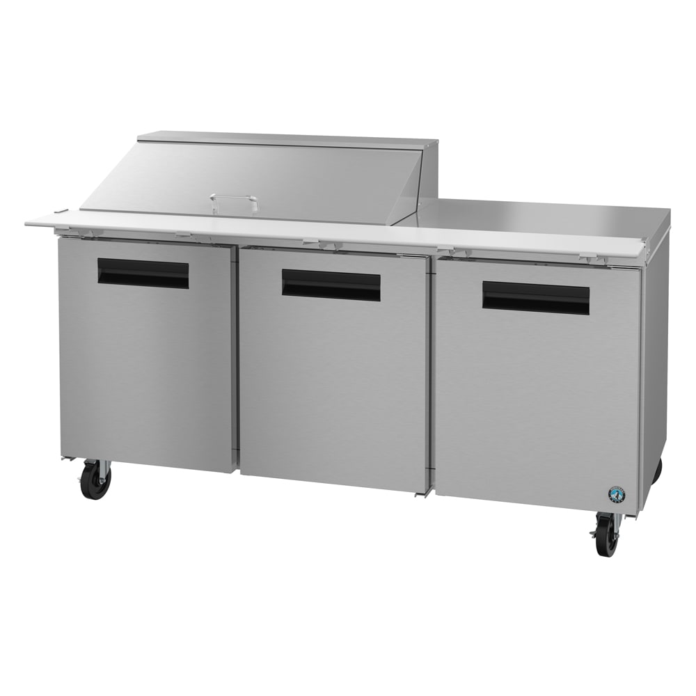 "Hoshizaki CRMR72-18M 72"" Sandwich/Salad Prep Table w/ Refrigerated Base, 115v"