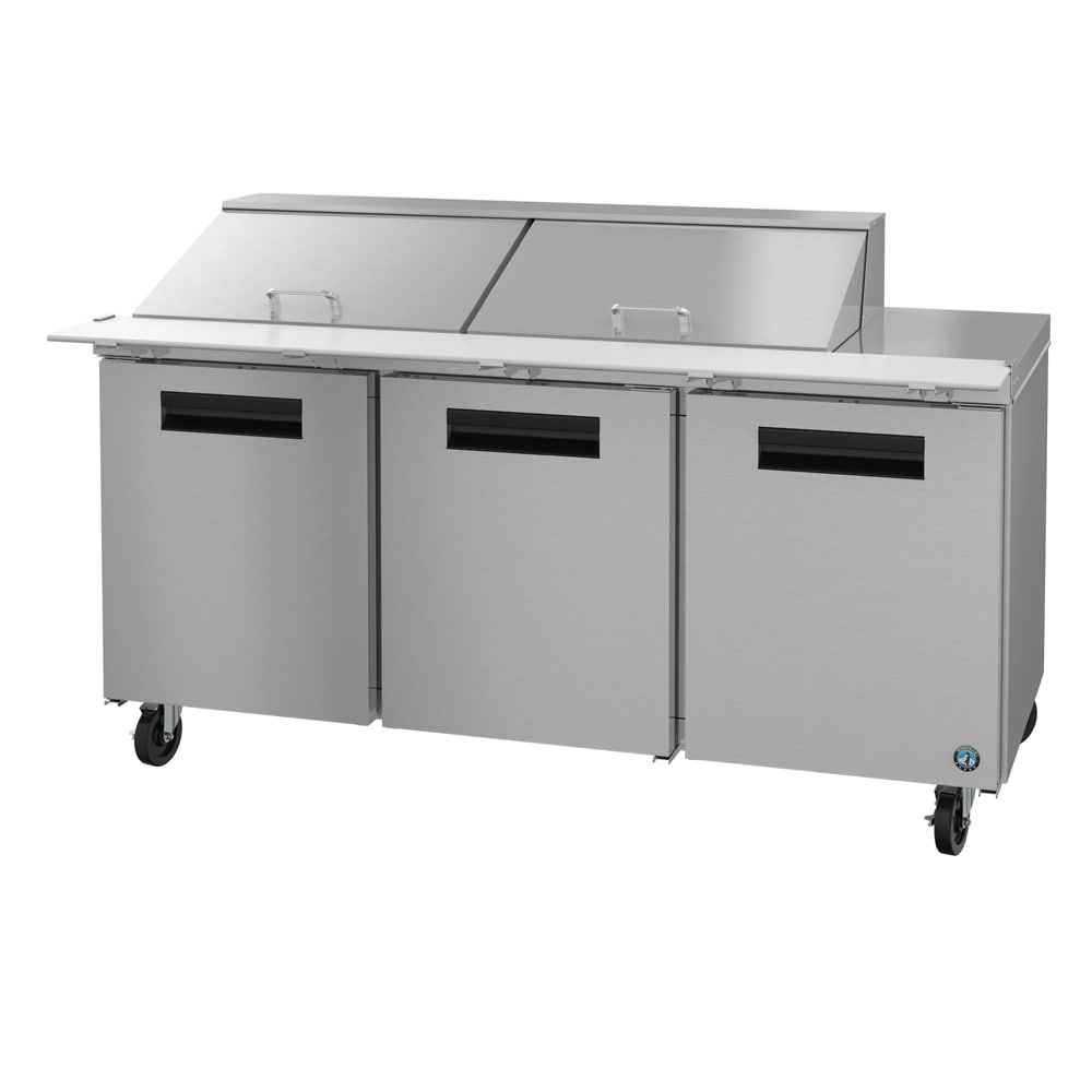 "Hoshizaki CRMR72-24M 72"" Sandwich/Salad Prep Table w/ Refrigerated Base, 115v"